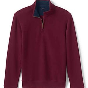 Lands' End Bedford  mens 1/4 zip pullover size 2XL